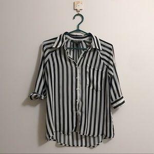 Tops - Striped button up shirt